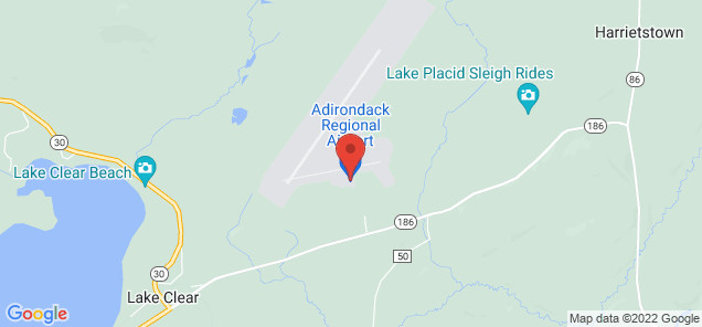 Map of Adirondack Regional Airport