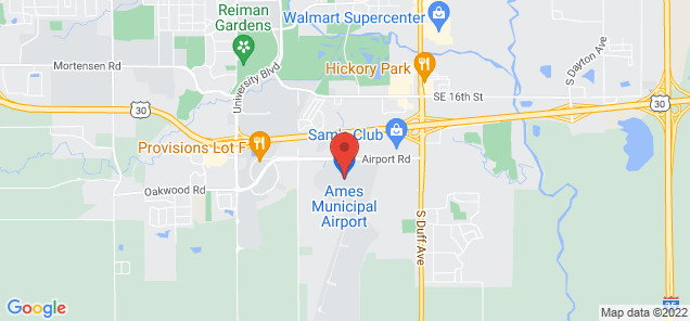 Map of Ames Municipal Airport