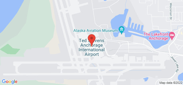 Map of Anchorage International Airport