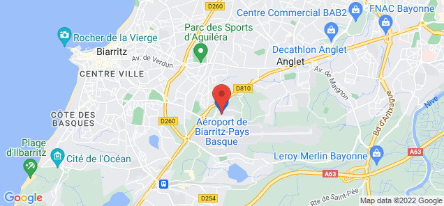 Map of Anglet Bayonne Airport
