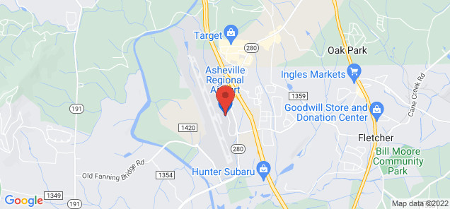 Map of Asheville Regional Airport