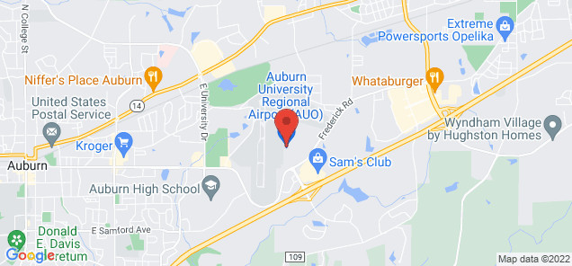 Map of Auburn University Regional Airport