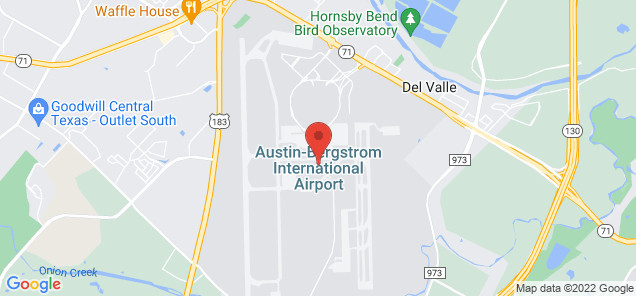 Map of Austin-Bergstrom International Airport