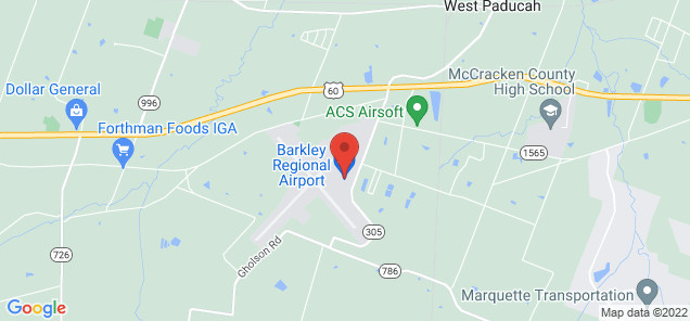 Map of Barkley Regional Airport