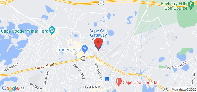 Map of Barnstable Municipal Airport Hyannis