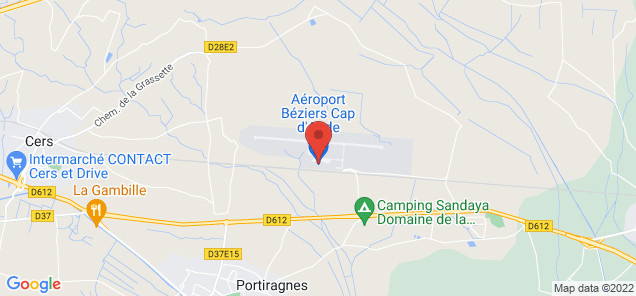 Map of Beziers Vias Airport