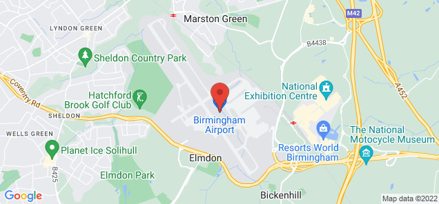 Map of Birmingham International Airport