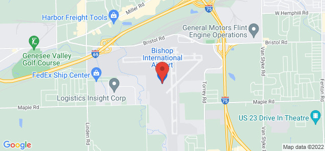 Map of Bishop International Airport