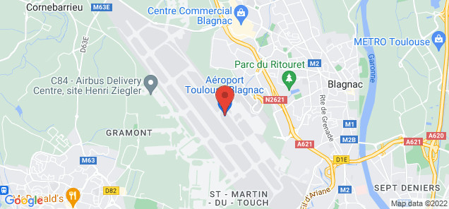 Map of Blagnac Airport