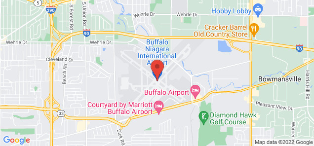 Map of Buffalo Niagara International Airport