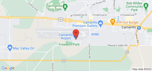 Map of Camarillo Airport