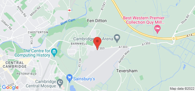 Map of Cambridge Airport