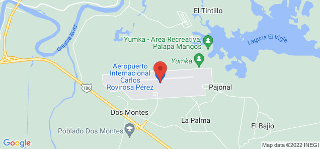 Map of Carlos Rovirosa Pérez International Airport