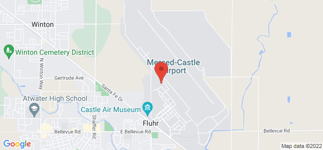Map of Castle Airport