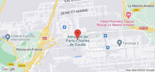 Map of Charles De Gaulle Airport