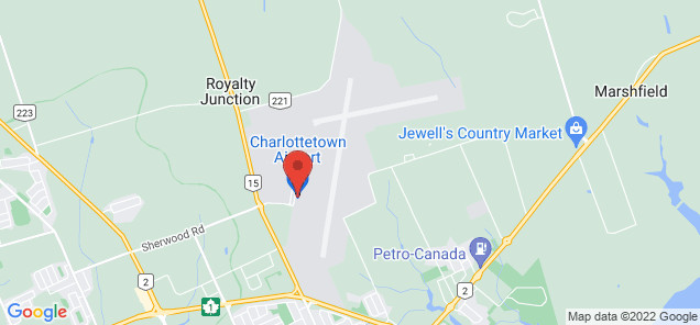 Map of Charlottetown Airport