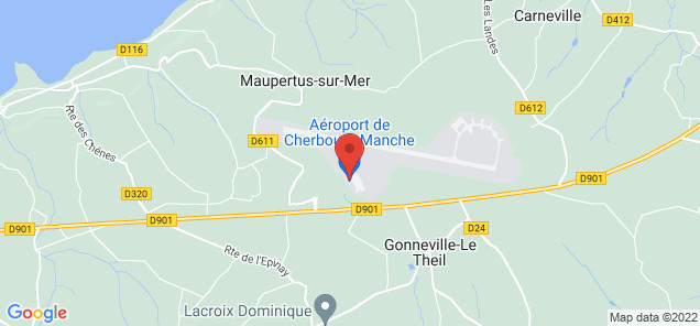 Map of Cherbourg – Maupertus Airport