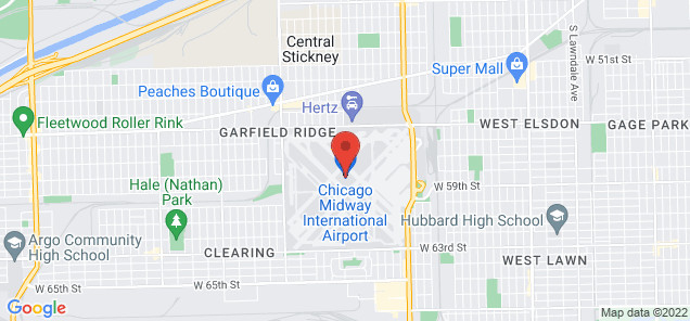 Map of Chicago Midway International Airport