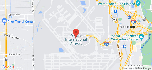 Map of Chicago O'Hare International Airport