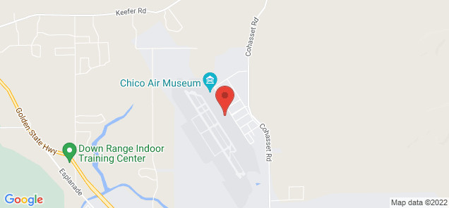 Map of Chico Municipal Airport