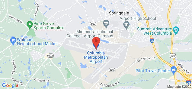 Map of Columbia Metropolitan Airport