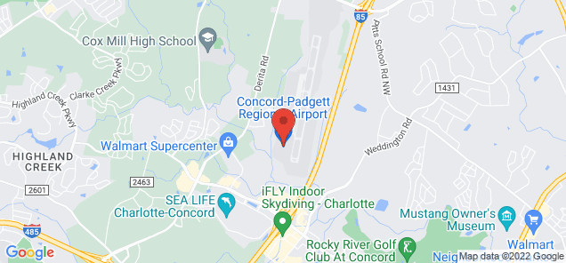 Map of Concord Regional Airport