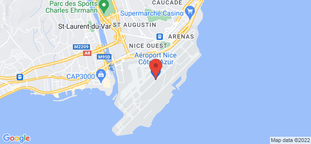 Map of Cote D' Azur Airport