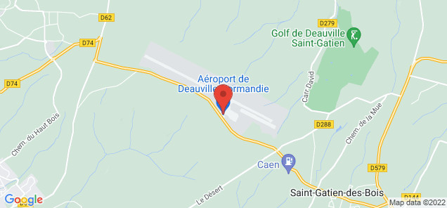 Map of Deauville – Saint-Gatien Airport