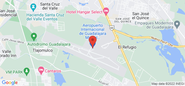 Map of Don Miguel Y Hidalgo International Airport