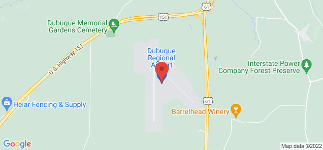 Map of Dubuque Regional Airport