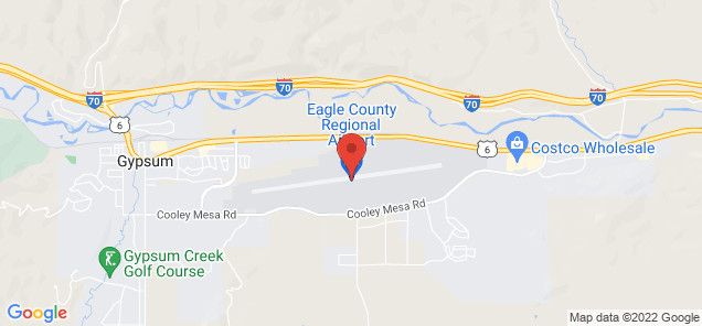 Map of Eagle County Regional Airport