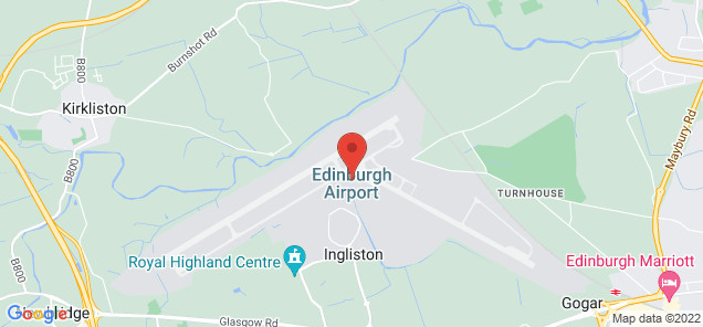 Map of Edinburgh Airport