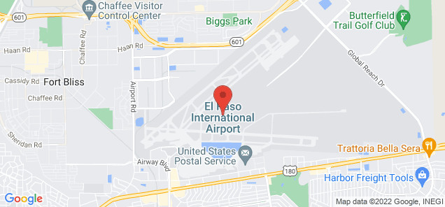 Map of El Paso International Airport