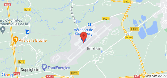 Map of Entzheim Airport