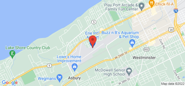 Map of Erie International Airport