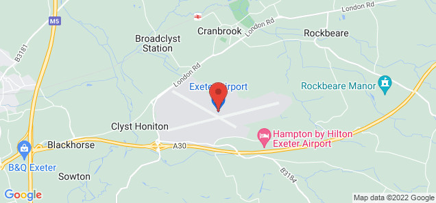 Map of Exeter International Airport