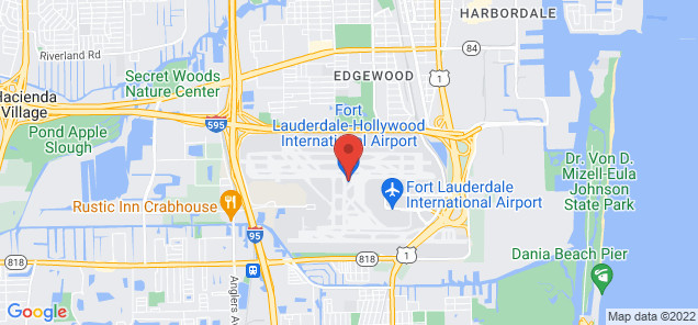 Map of Fort Lauderdale-Hollywood International Airport