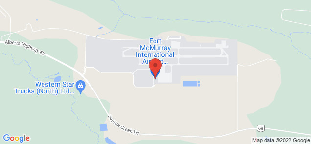 Map of Fort McMurray Airport