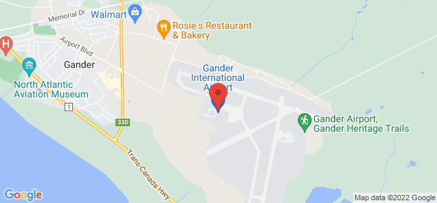 Map of Gander International Airport