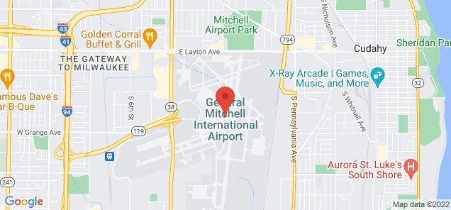 Map of General Mitchell International Airport