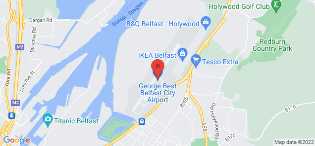Map of George Best Belfast City Airport