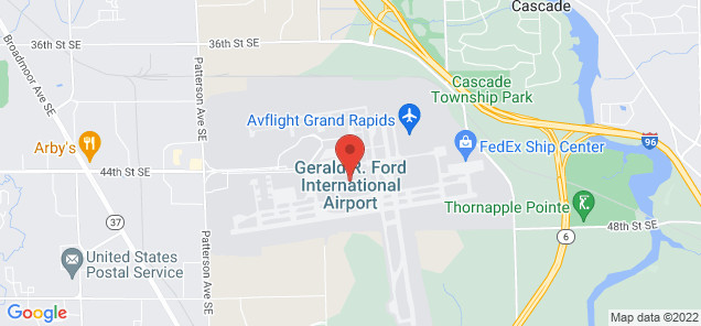 Map of Gerald R. Ford International Airport