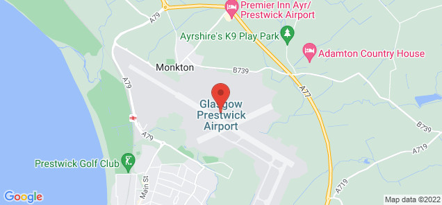 Map of Glasgow Prestwick Airport