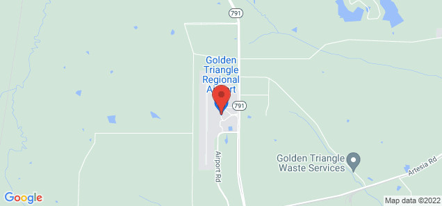 Map of Golden Triangle Regional Airport