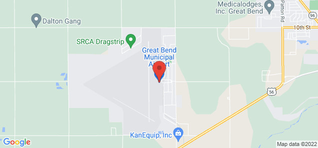 Map of Great Bend Municipal Airport