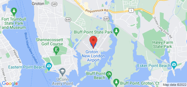 Map of Groton-New London Airport
