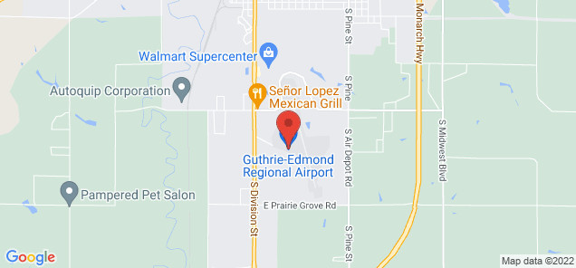 Map of Guthrie–Edmond Regional Airport