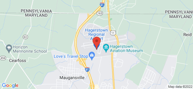Map of Hagerstown Regional Airport