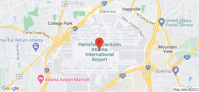 Map of Hartsfield-Jackson Atlanta International Airport