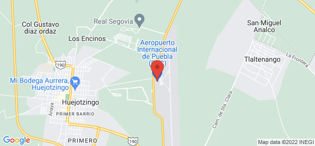 Map of Hermanos Serdán International Airport